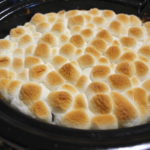 Slow Cooker Sweet Potato Casserole With Marshmallows.