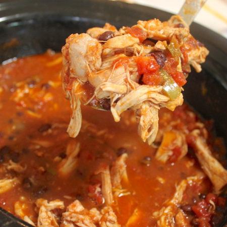 Slow Cooker Shredded Chicken Nachos