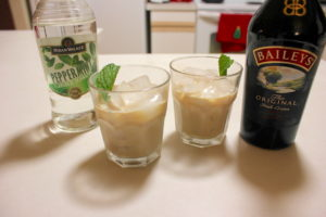 Baileys Irish Cream with Peppermint Schnapps