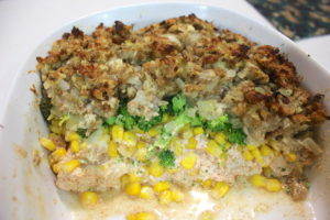 One Dish Chicken and Stuffing Casserole
