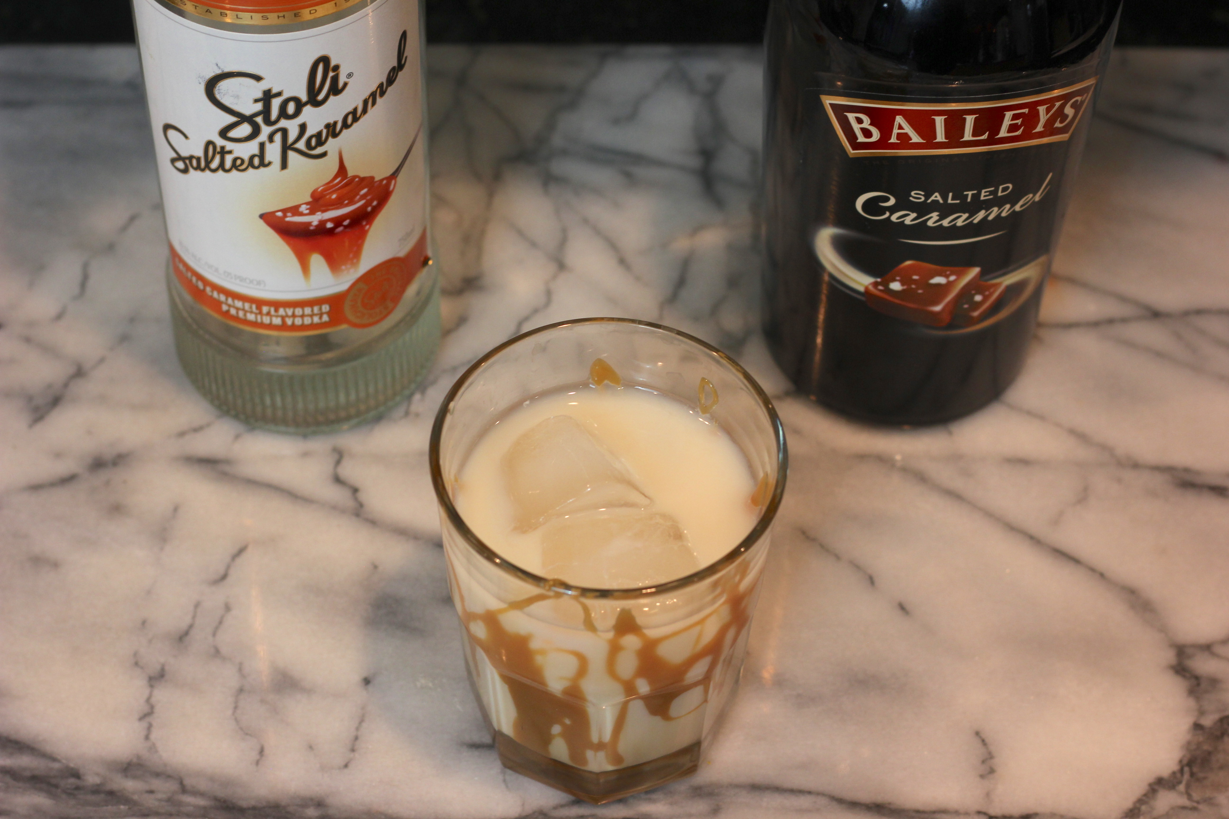 Salted Caramel White Russian Alcoholic Drinks Recipe